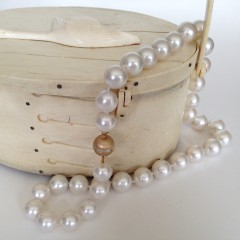 Fine Graduated White South Sea Pearls Necklace