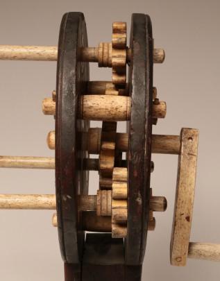 Whalebone 19th Century Whalebone And Pinewood Rope