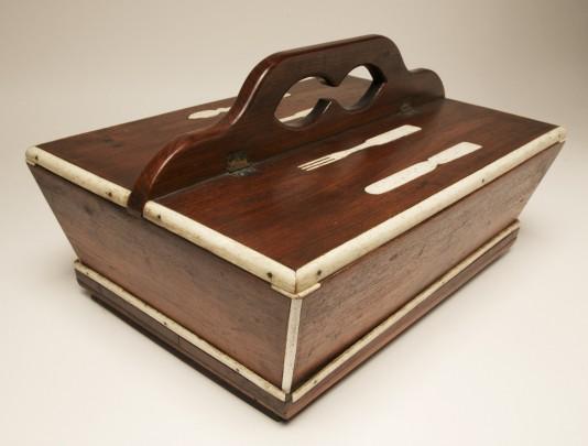 Whalebone Inlaid Rosewood Cutlery Box