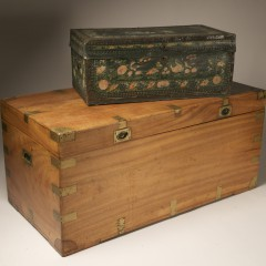 Two Chinese Camphorwood Chests