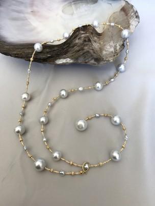 Fine 11mm - 14mm South Sea White Pearl Necklace