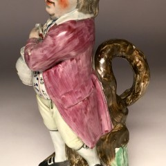 "18th Century English Staffordshire ""Hearty Good Fellow"" Jug"