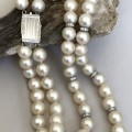 10mm White Cultured Pearl Double Strand Necklace