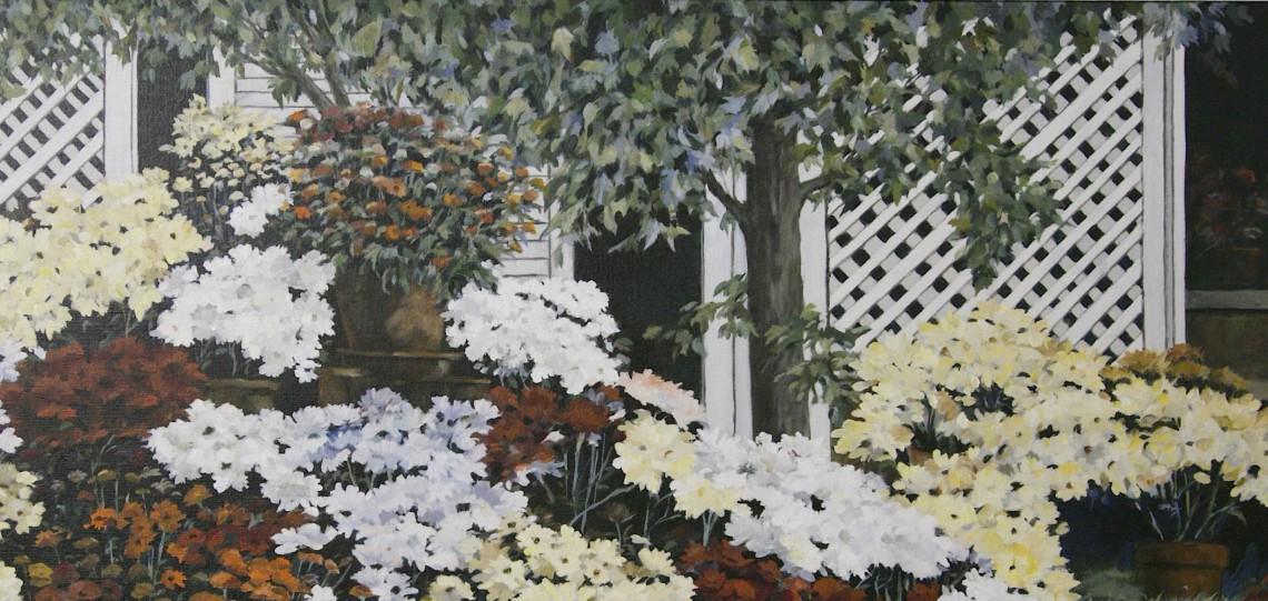 Roy Bailey Oil on Canvas - Flowers