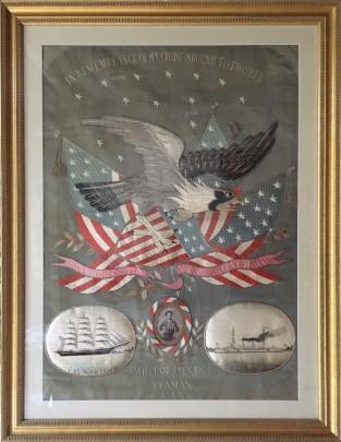 American Patriotic Silk Embroidery