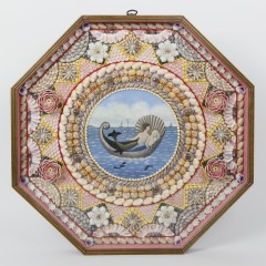 Pair of Ralph and Martha Cahoon Sailor's Valentines