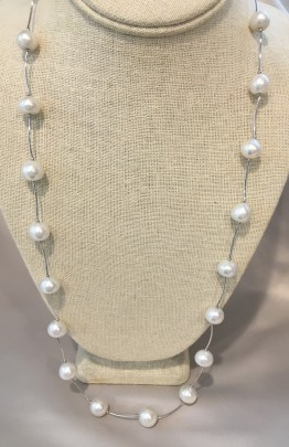 10mm White South Sea Baroque Pearl Necklace