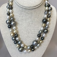Fine 9mm – 16mm Tahitian South Sea Multi-Color Pearl Cocktail Necklace
