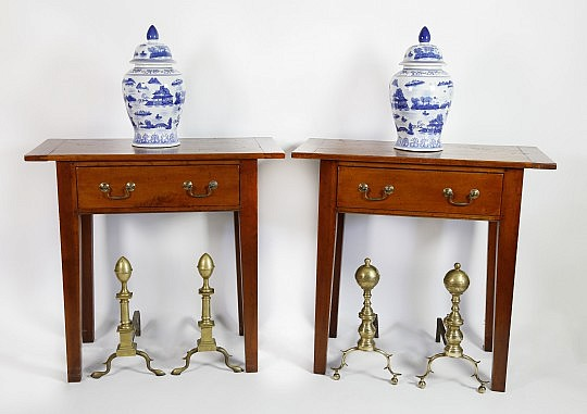 Set of Side tables and andirons_9940