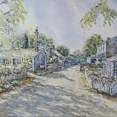 """William Welch Watercolor on Paper """"Shell Street Sonata"""""""