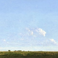 "Kenneth Layman Oil on Board ""Bartlett Farm"""