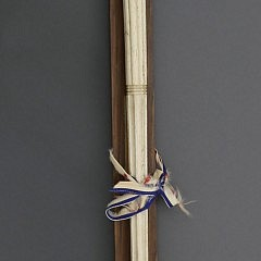 Whaler Made Whale Ivory, Whalebone, Mother-of-Pearl, Abalone and Baleen Walking Stick