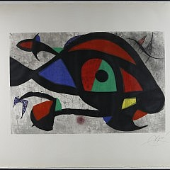 """Joan Miro (1893-1983) Color Lithograph Entitled """"Le Beluga"""", pencil signed lower right Miro with edition #44/50 lower left"""