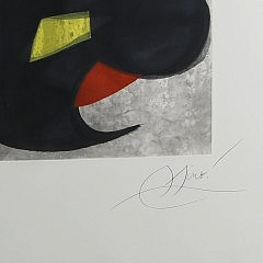"Joan Miro Etching ""Le Beluga"" Aquatint and Carborundum in Colors on Wove Paper"