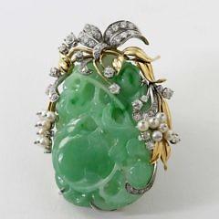 Jadeite Brooch