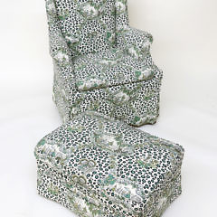 Billy Baldwin Wing Chair and Ottoman