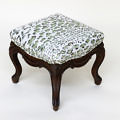 Louis XV Style Upholstered Foot Stool