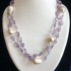 40744 Baroque and Amethyst Necklace