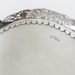 George III Sterling Silver Footed Salver London, 1782, Andrew Fogelberg and Stephen Gilbert