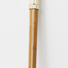Carved Bone and Malacca Wood Shaft Walking Stick, in the Form of a Deer's Hoof, circa 1880