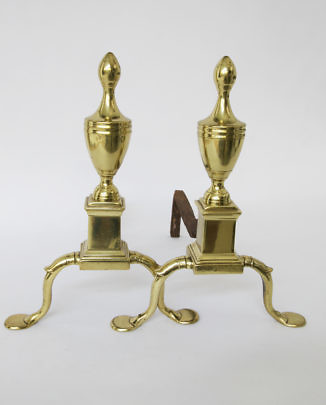 2121-955 Philadelphia Brass Andirons_MG_2782