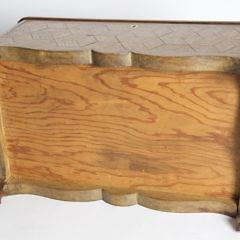 19th Century Geometric Tumbling Block Parquetry Inlaid Sewing Box