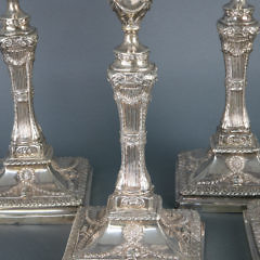 Set of 4 English Sterling Silver Candlesticks, circa 1816