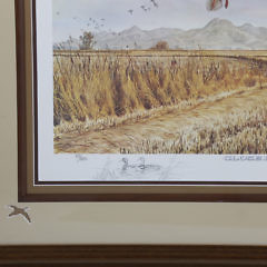 "Gary E. Neel Ducks Unlimited Limited Edition Lithograph, ""Close By the Sutter Buttes-Mallard"""
