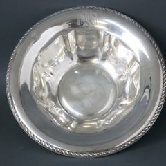 Gorham Sterling Silver Bowl with Gadroon Border