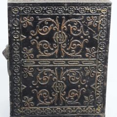 """Antique Cast Iron Safe Still Bank with Drawers """"Security Safe Deposit"""""""
