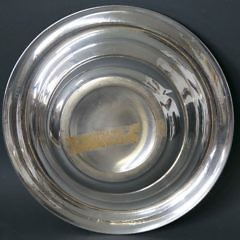 Sterling Silver Shallow Bowl with Turned Rim