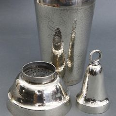 Hand Hammered Sterling Silver Cocktail Shaker, Shreve & Co. San Francisco