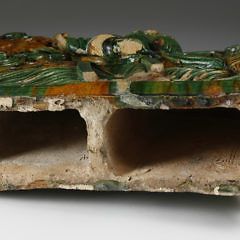 Chinese Ceramic Lomga Roof Tile, 19th Century