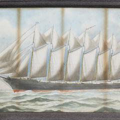 15-2125 E Russell Watercolor Ship Thomas Lawson A_MG_7395