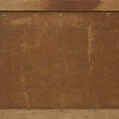 "James Francis Barker Oil on Masonite ""Hillers Lane, Nantucket, Mass."""