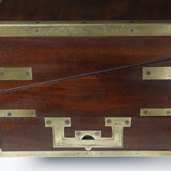 English Brass Bound Mahogany Traveling Desk Box, circa 1820