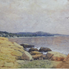 "Hugh Hunting Howard Watercolor on Paper ""Rocky Shoreline"""