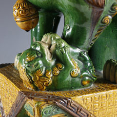 Chinese Ceramic Foo Lion and Cub
