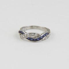172-4800 Diamond Sapphire Braided Ring A_MG_8939