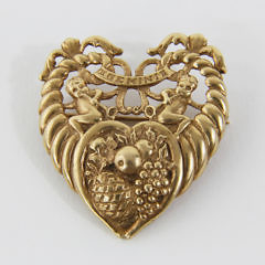 187-4800 Gold Gemini Brooch A_MG_9002