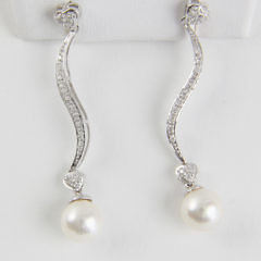 191-4800 Diamond and Pearl Earrings A_MG_8931