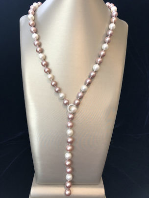 40906 Pink White Pearl Lariat A IMG_3481