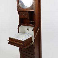 Walnut Ship's Sink Cabinet, 19th Century