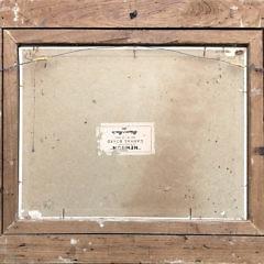"Frank Swift Chase Oil on Artist Board ""Tropical Inlet Beach Scene"""